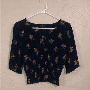 American Eagle floral shirt